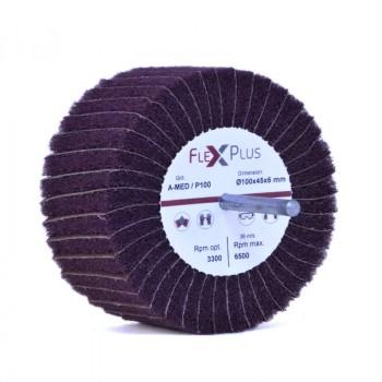 Combi flap wheel w/ shaft 100x45x6mm AMED P100
