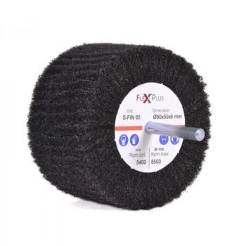 Non-woven flap wheel w/ shaft 80x50x6mm S-FIN